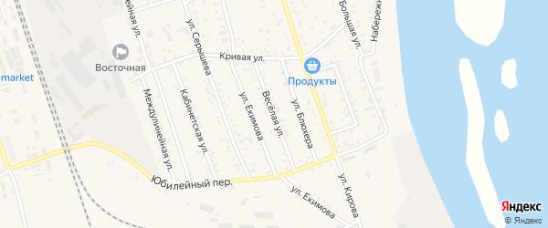 Веселая улица на карте Свободного с номерами домов