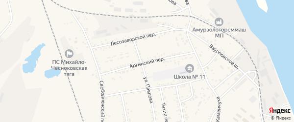 Аргинский переулок на карте Свободного с номерами домов
