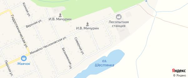 Восточная улица на карте Свободного с номерами домов