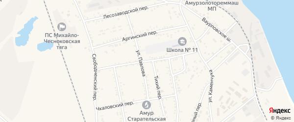 Рабочий переулок на карте Свободного с номерами домов