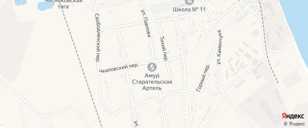 Улица Павлова на карте Свободного с номерами домов