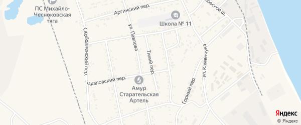 Тихий переулок на карте Свободного с номерами домов