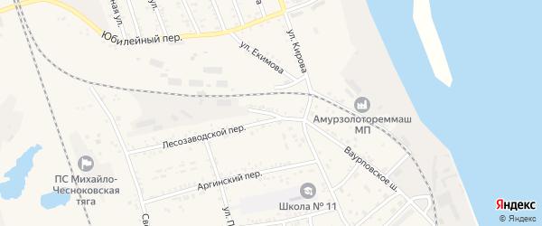 Фабричная улица на карте Свободного с номерами домов