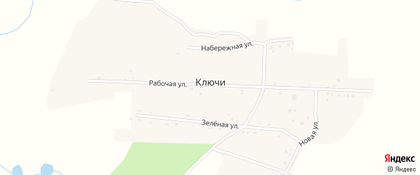 Новая улица на карте села Ключи с номерами домов