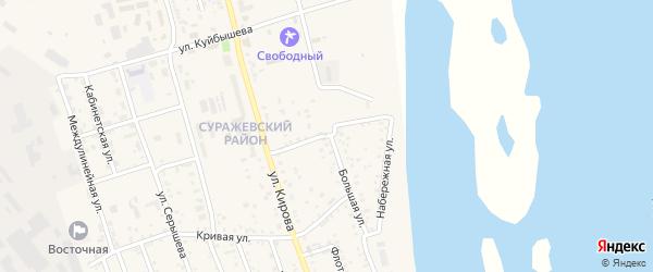 Речной переулок на карте Свободного с номерами домов