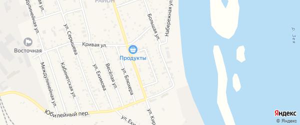 Флотский переулок на карте Свободного с номерами домов