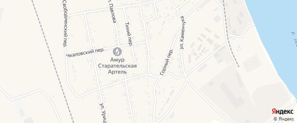 Улица Зои Космодемьянской на карте Свободного с номерами домов