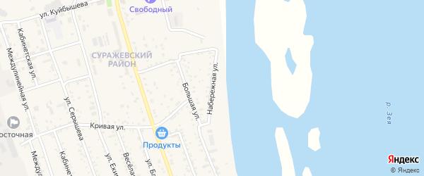 Набережная улица на карте Свободного с номерами домов