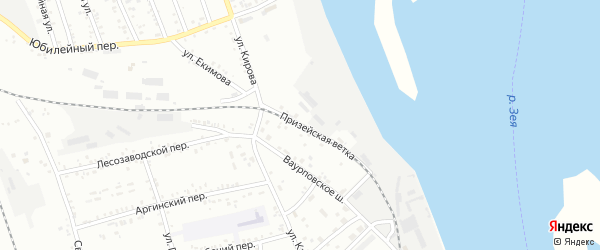 Улица Призейская ветка на карте Свободного с номерами домов