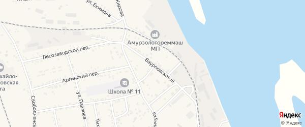 Улица Ваурповское шоссе на карте Свободного с номерами домов