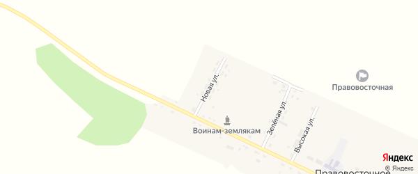 Новая улица на карте Правовосточного села с номерами домов