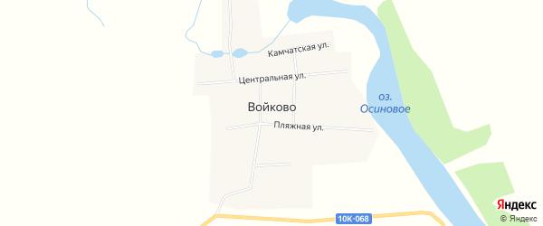 Карта села Войково в Амурской области с улицами и номерами домов