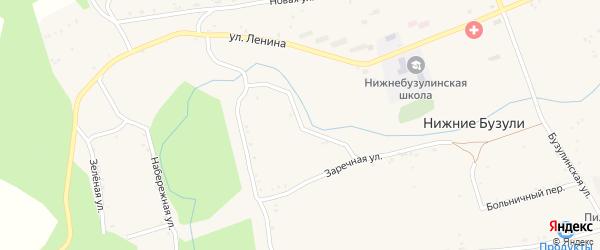 Кольцевая улица на карте села Нижние Бузули с номерами домов