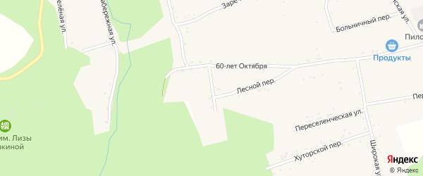 Лесной переулок на карте села Нижние Бузули с номерами домов