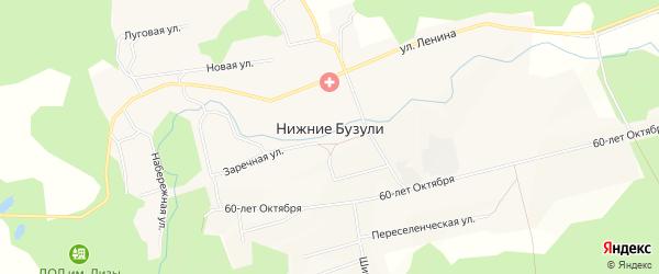 Карта села Бузули в Амурской области с улицами и номерами домов