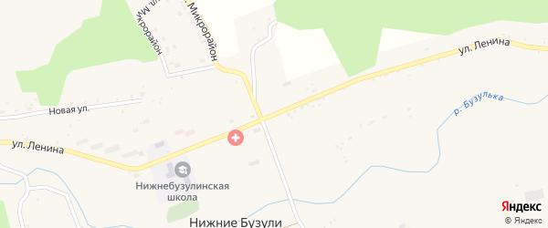 Улица Ленина на карте села Нижние Бузули с номерами домов