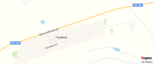 Карта села Чуевка в Амурской области с улицами и номерами домов