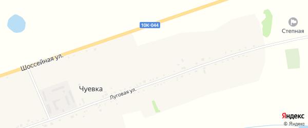 Шоссейная улица на карте села Чуевка с номерами домов