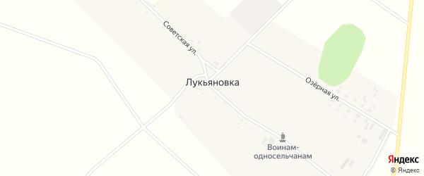 Советская улица на карте села Лукьяновки с номерами домов
