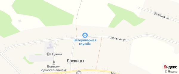 Школьная улица на карте села Лохвицы с номерами домов