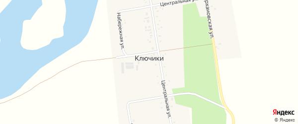 Набережная улица на карте села Ключики с номерами домов