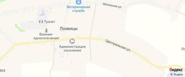 Центральная улица на карте села Лохвицы с номерами домов