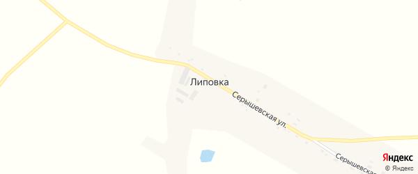 Серышевская улица на карте села Липовки с номерами домов