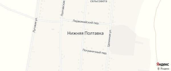 Целинная улица на карте села Нижней Полтавки с номерами домов