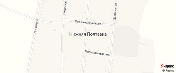 Первомайский переулок на карте села Нижней Полтавки с номерами домов
