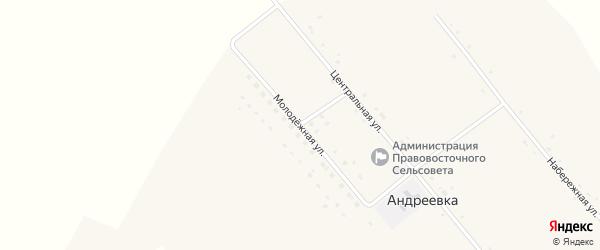 Молодежная улица на карте села Андреевки с номерами домов