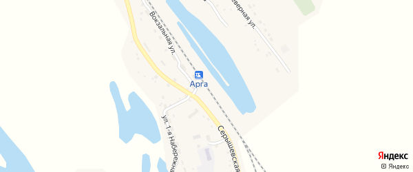 Тенистая улица на карте станции Арги с номерами домов