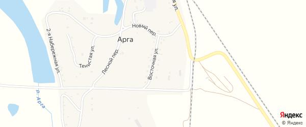 Восточная улица на карте станции Арги с номерами домов