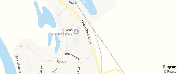 Серышевская улица на карте станции Арги с номерами домов