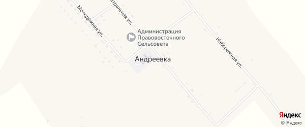 Центральная улица на карте села Андреевки с номерами домов