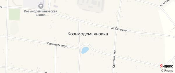 Северный переулок на карте села Козьмодемьяновка с номерами домов