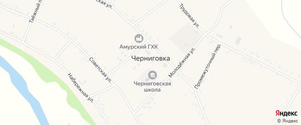 Таежный переулок на карте села Черниговки с номерами домов