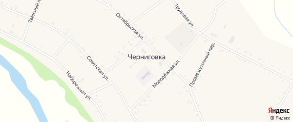Промежуточный переулок на карте села Черниговки с номерами домов