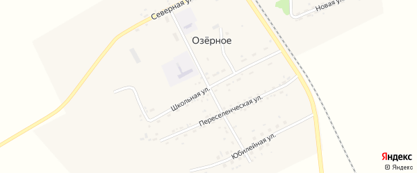 Центральная улица на карте Озерного села с номерами домов
