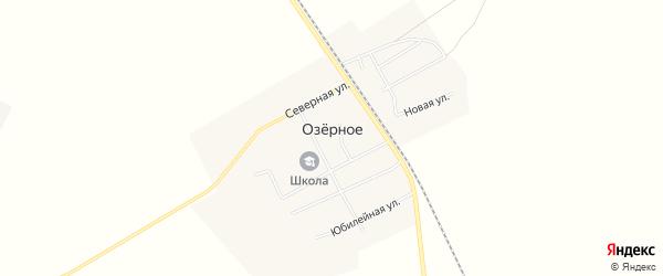 Карта Озерного села в Амурской области с улицами и номерами домов