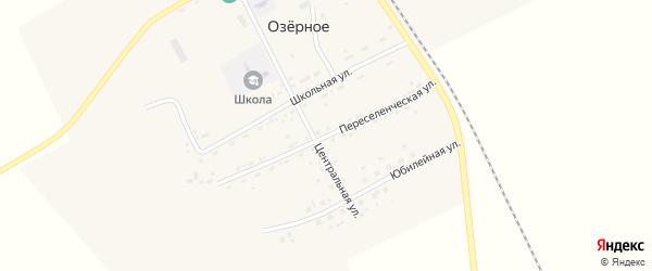 Переселенческая улица на карте Озерного села с номерами домов