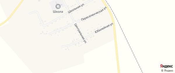 Юбилейная улица на карте Озерного села с номерами домов