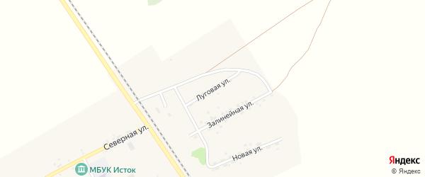 Луговая улица на карте Озерного села с номерами домов