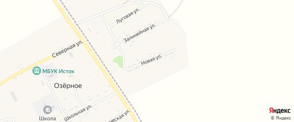 Новая улица на карте Озерного села с номерами домов
