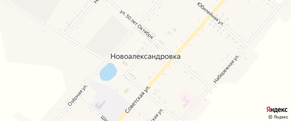 Комсомольская улица на карте села Новоалександровки с номерами домов