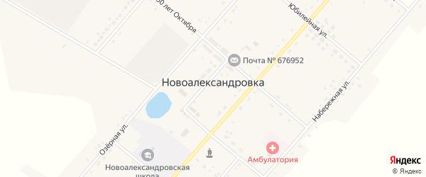 Юбилейная улица на карте села Новоалександровки с номерами домов