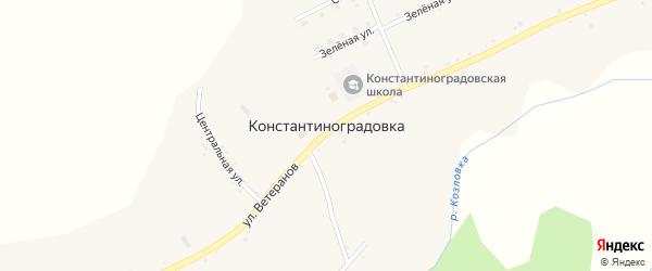 Северная улица на карте села Константиноградовки с номерами домов