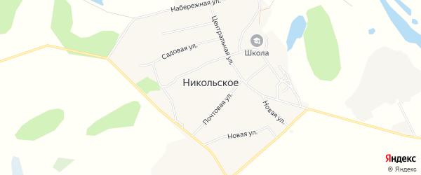 Карта Никольского села в Амурской области с улицами и номерами домов
