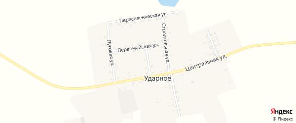 Советский переулок на карте Ударного села с номерами домов