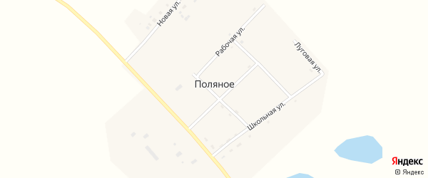 Рабочая улица на карте Поляного села с номерами домов