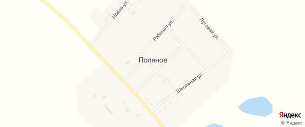 Техническая улица на карте Поляного села с номерами домов